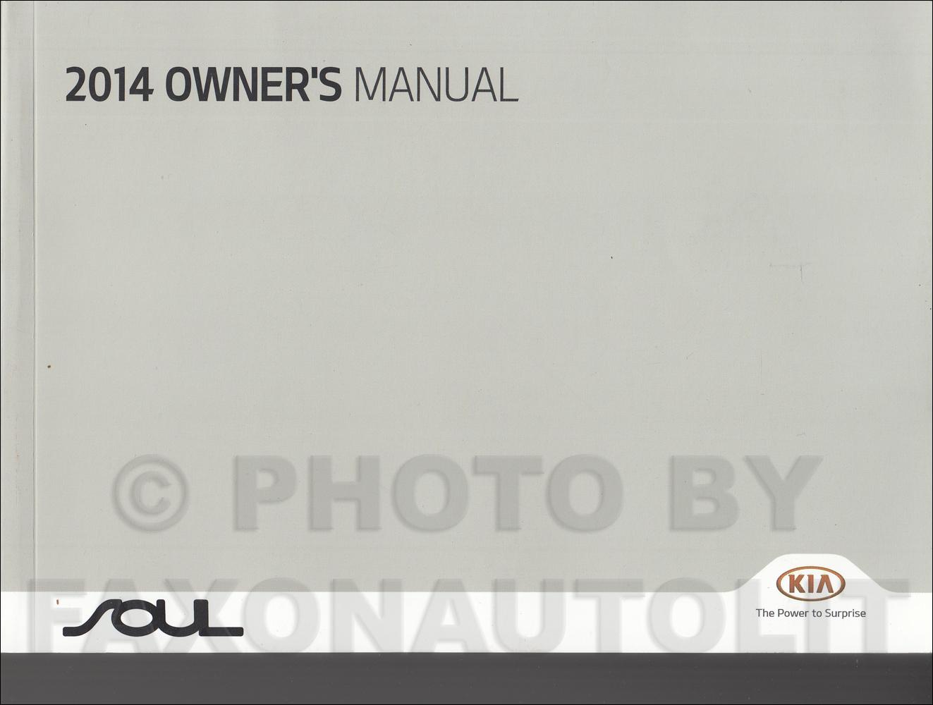 2014 Kia Soul Owners Manual Original