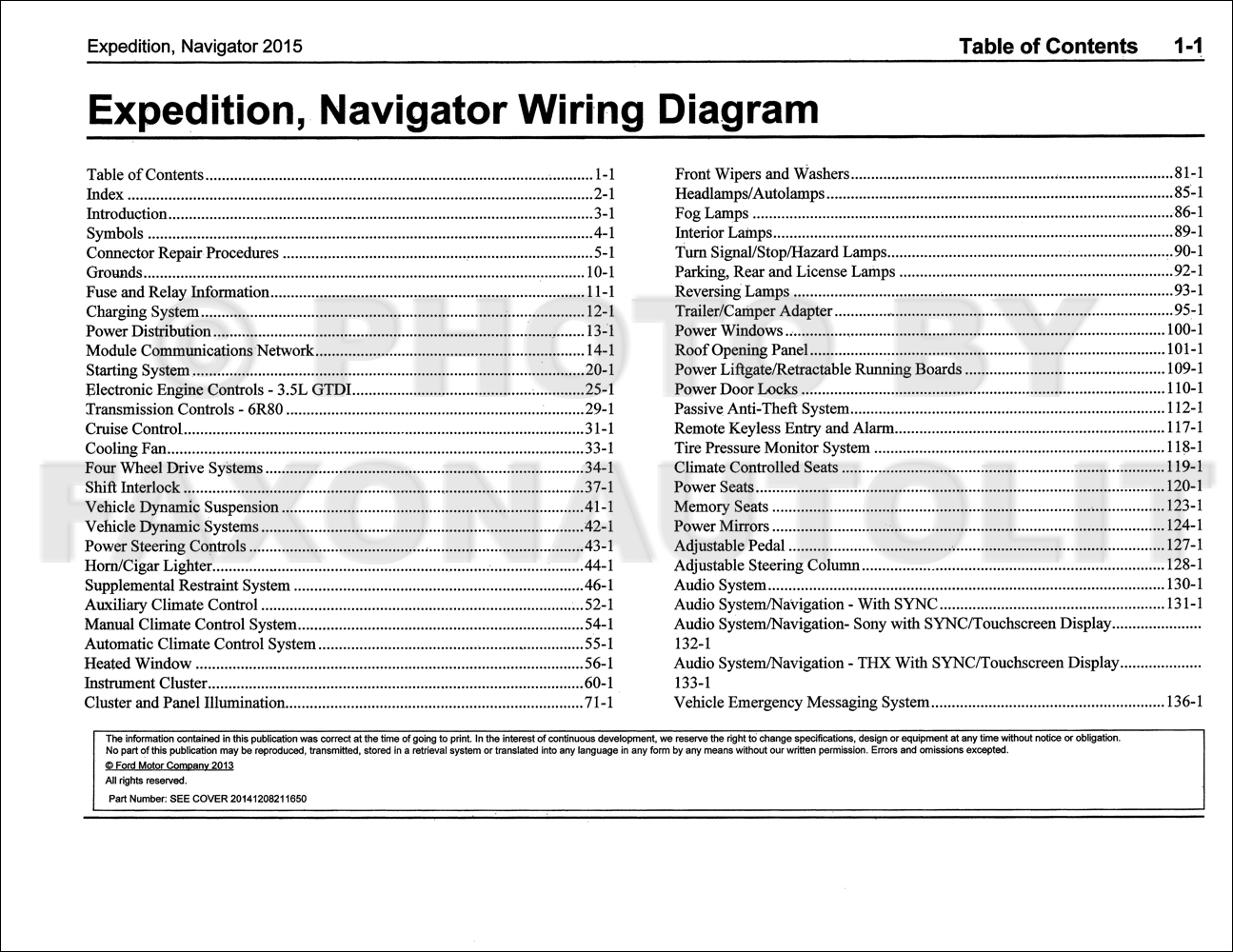2015 ford expedition lincoln navigator wiring diagram. Black Bedroom Furniture Sets. Home Design Ideas