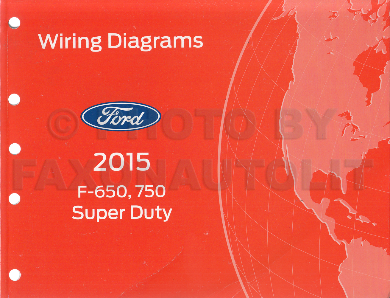 2015 Ford F-650 and F-750 Super Duty Truck Wiring Diagram Manual ...