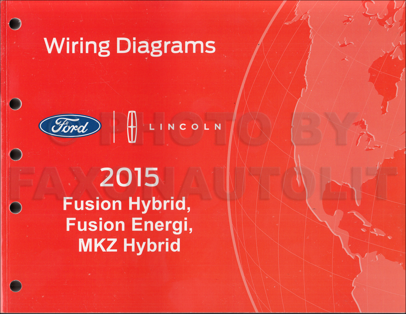 2015 Ford Fusion Energi Hybrid Lincoln Mkz Hybrid Wiring Diagram Manual Original
