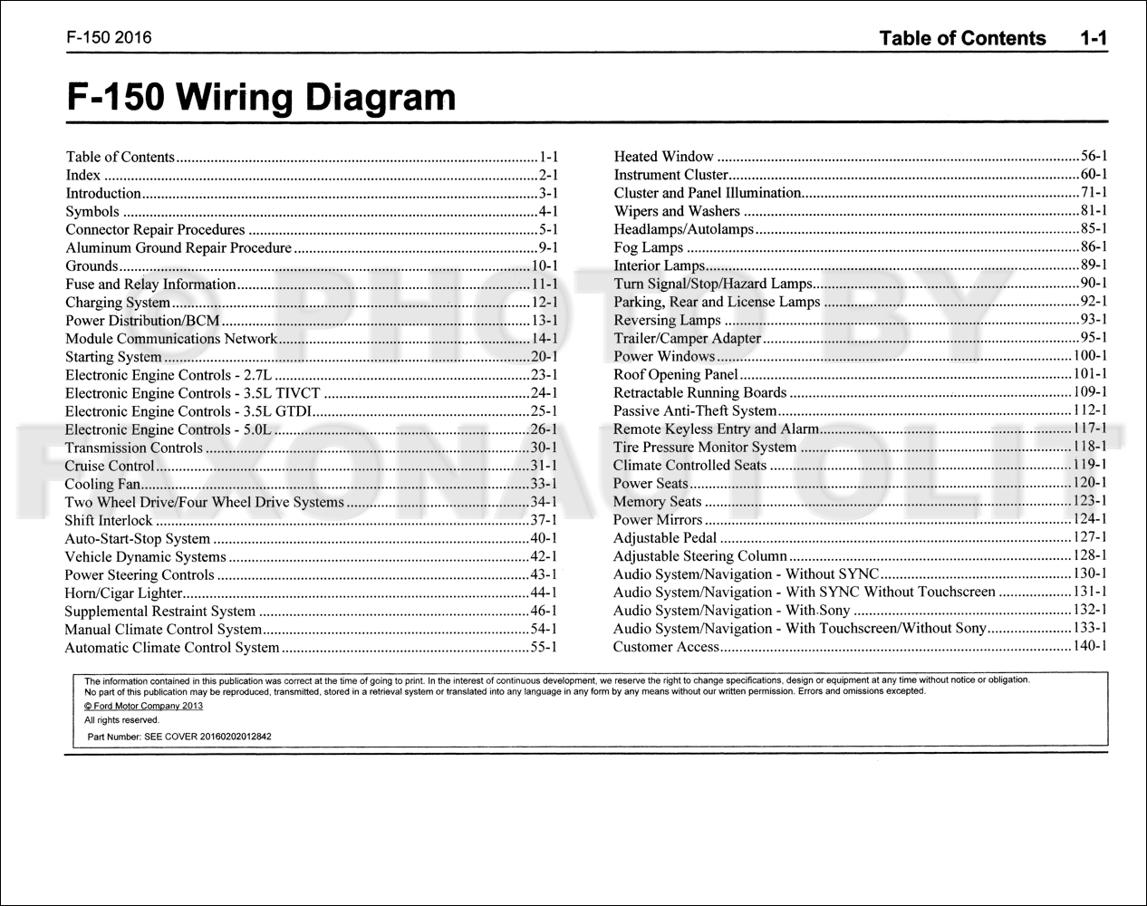 2016 ford f 150 wiring diagram manual original. Black Bedroom Furniture Sets. Home Design Ideas