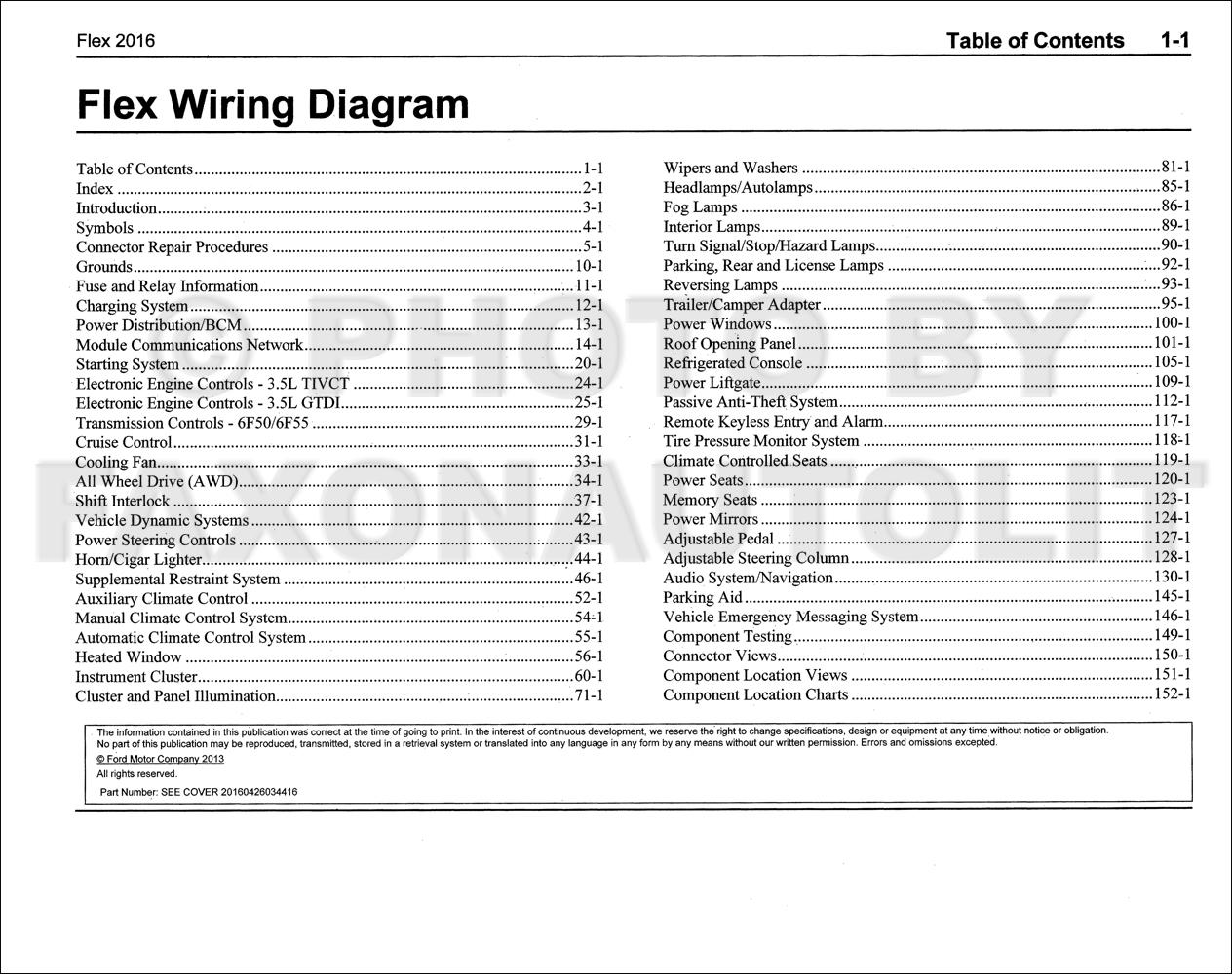 2016 Ford Flex Wiring Diagram Manual Original