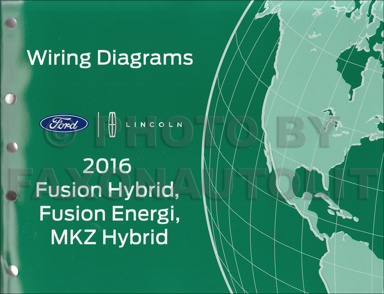 2016 Ford Fusion Energi Hybrid Lincoln Mkz Hybrid Repair Shop Manual On Cd