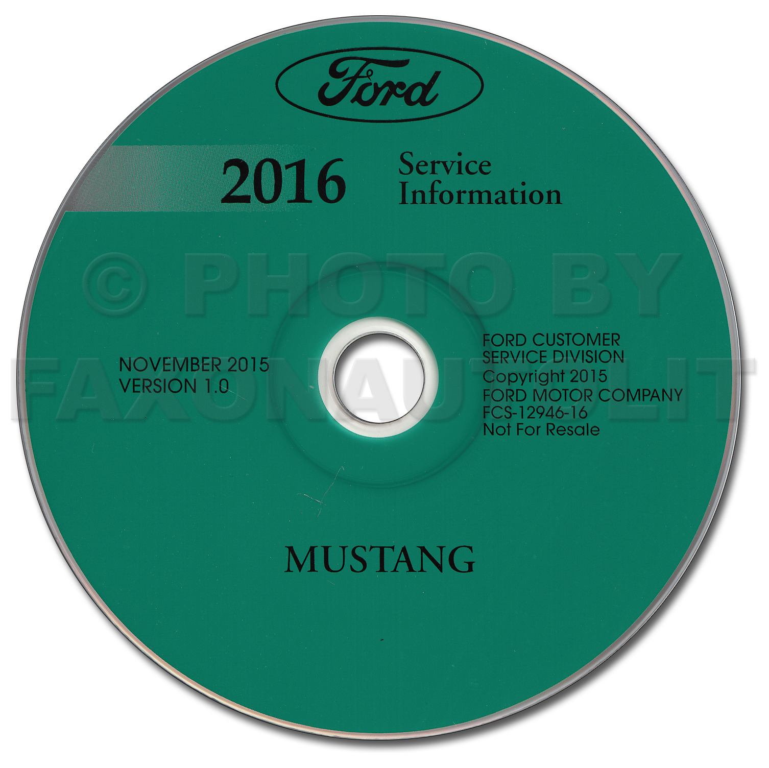 2016 Ford Mustang Repair Shop Manual On Cd