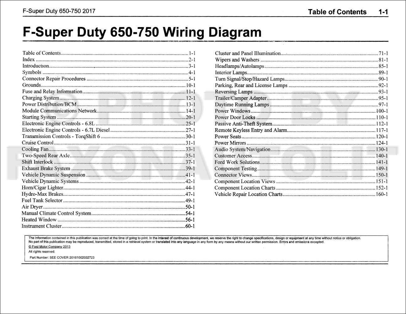 2017 Ford F-650 and F-750 Super Duty Truck Wiring Diagram Manual ...