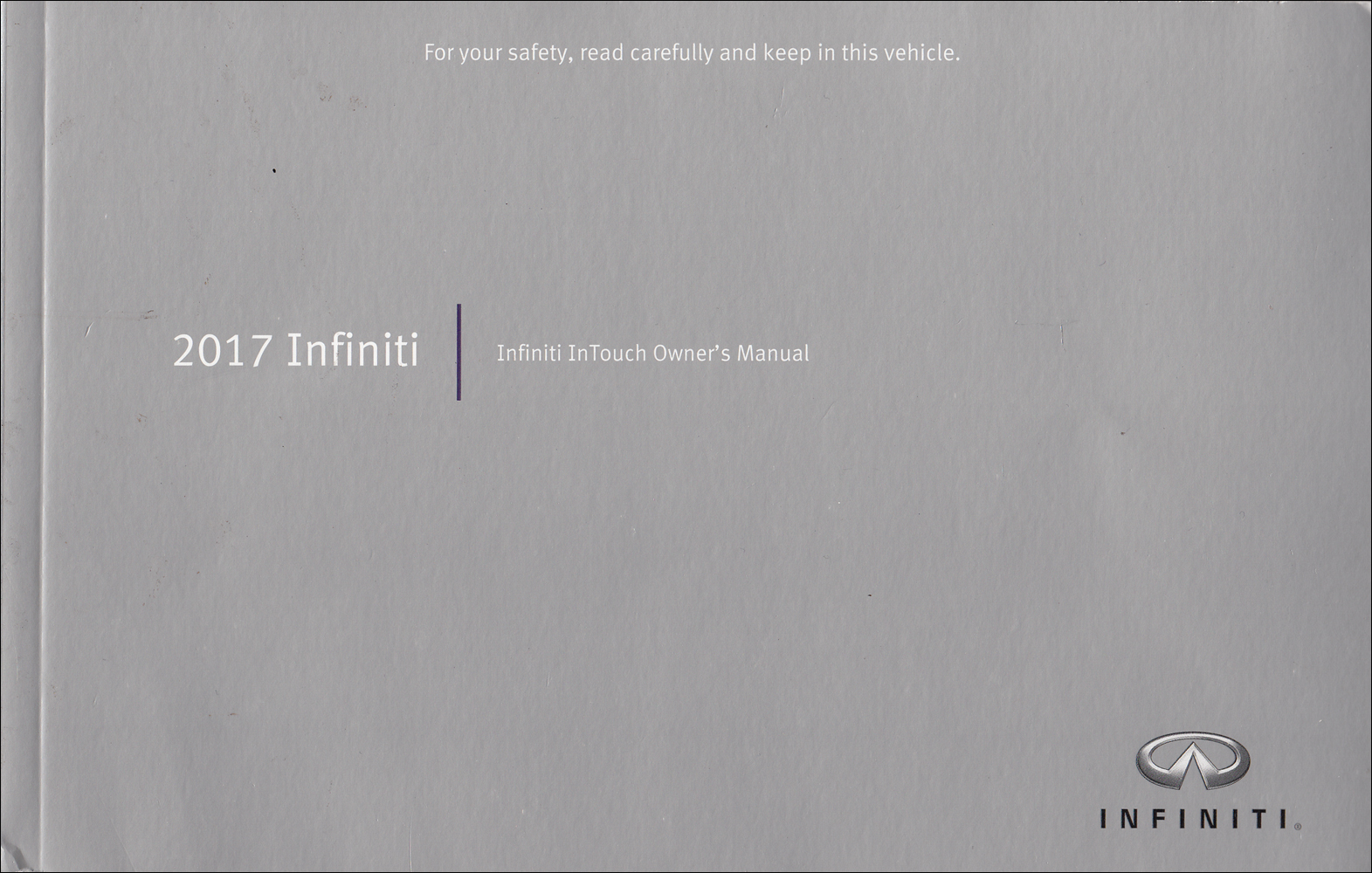 2017 Infiniti InTouch Navigation System Owner's Manual Original