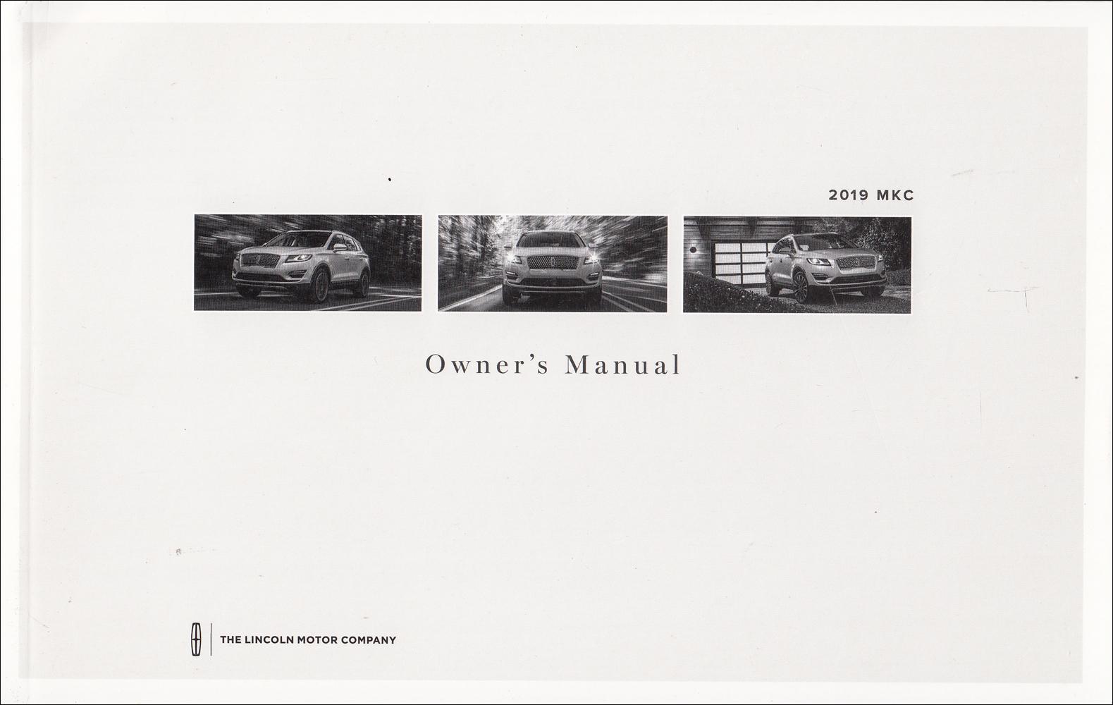 2019 Lincoln MKC Owner's Manual Original