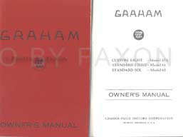 1933 Graham Reprint Owner's Manual Standard & Custom 6 & 8 Cylinder