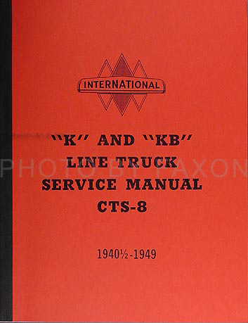 1940 1949 international k  u0026 kb series truck repair shop