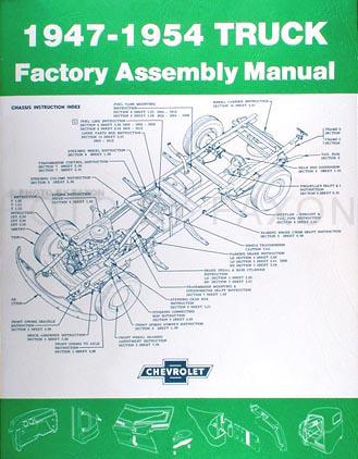 1947 1954 chevrolet pickup truck assembly manual reprint rh faxonautoliterature com 1972 chevy truck assembly manual 1966 chevy truck assembly manual