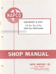 1956-1963 Chevrolet GMC NapCo 4x4 Pickup Truck Shop Manual Reprint