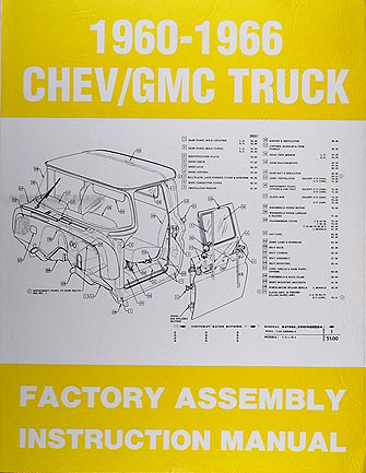 gmc pickup truck assembly manual 1960 1961 1962 1963 1964 1965 1966 factory | ebay wire diagram for a 1965 chevy c 20