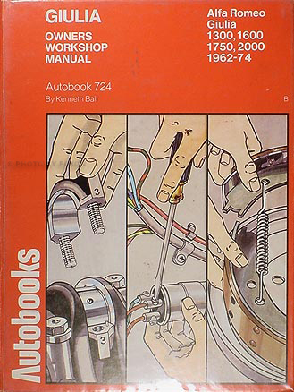 1962 1974 alfa romeo giulia shop manual by autobooks. Black Bedroom Furniture Sets. Home Design Ideas