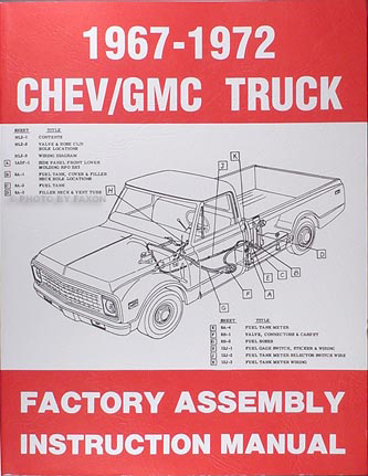 1970 chevrolet pickup truck wiring diagram manual reprint related items