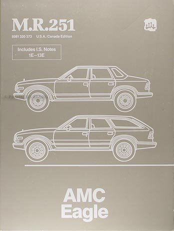 1984 1988 amc eagle repair shop manual original m r 251 rh faxonautoliterature com