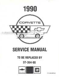 1991 Corvette Shop Manual Original