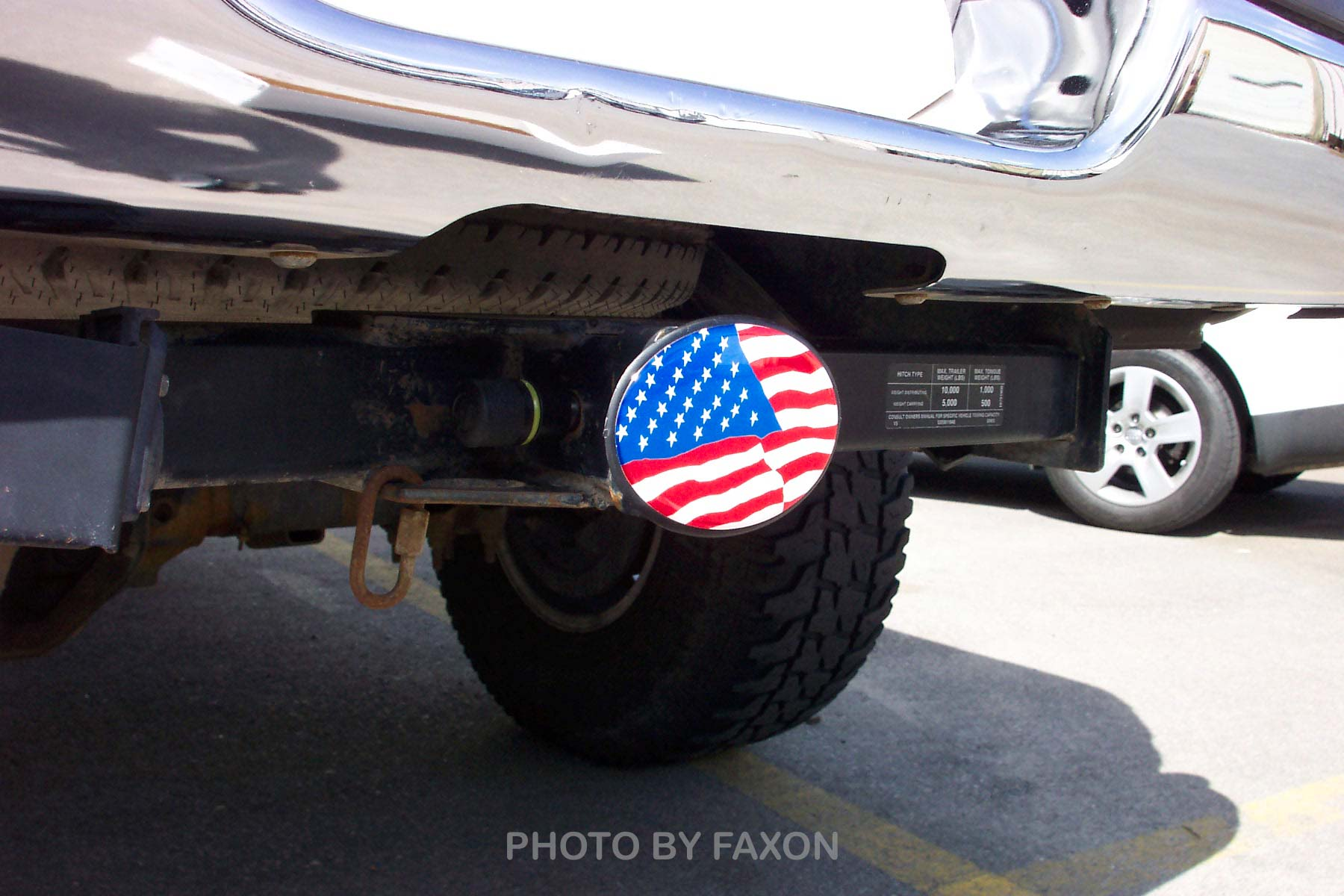 American Flag patriotic Trailer Hitch Cover