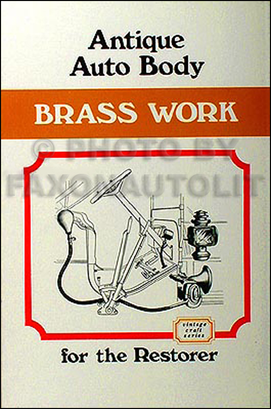 1906-1912 Antique Auto Body Brass Work for Restorer Illus. brass parts