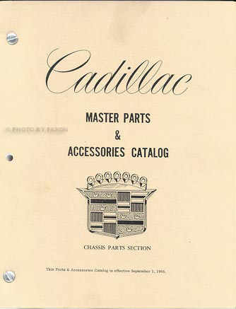 1965-1969 Cadillac Illustrated Master Parts Catalog Reprint