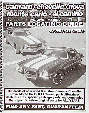 Find ANY Chevelle Malibu and El Camino Part with Parts Locating Guide