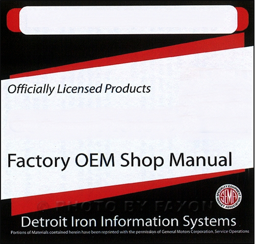 1969 Chevy CD-ROM Shop, Overhaul, & Body Manual, plus parts book