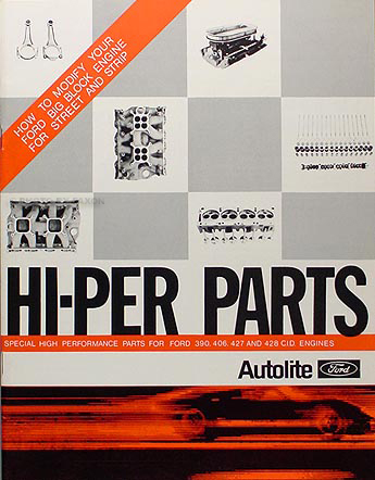 1961-1969 Ford Big Block Hi-Performance Parts Book Reprint