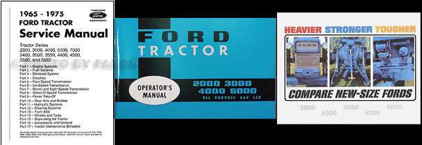 1965-1966 Ford Tractor 3 Manual set 2000-3000-4000-5000 Reprint