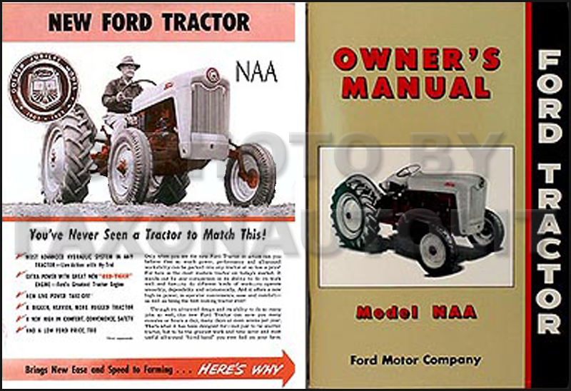 FordTractorNaa2BookSet 1954 1955 ford naa golden jubilee brochure manual set reprint wiring diagram 1954 ford naa tractor at bakdesigns.co