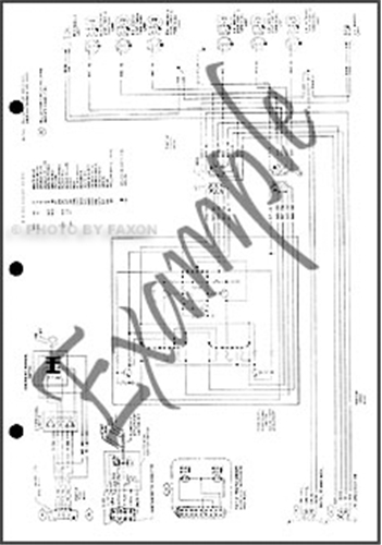 1982 Lincoln Continental Foldout Wiring Diagram Original