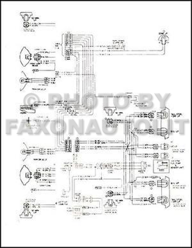 1975 Chevy El Camino GMC Sprint Wiring Diagram Original