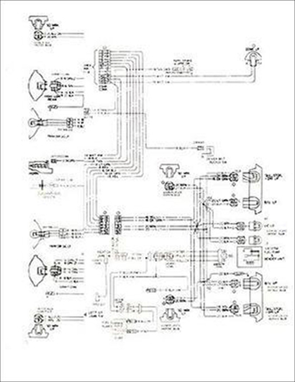 1977 Camaro Wiring Diagram Schematics Diagrams 1997 Chevy Foldout Original Lt Rs And Z28 Rh Faxonautoliterature Com Engine 1981
