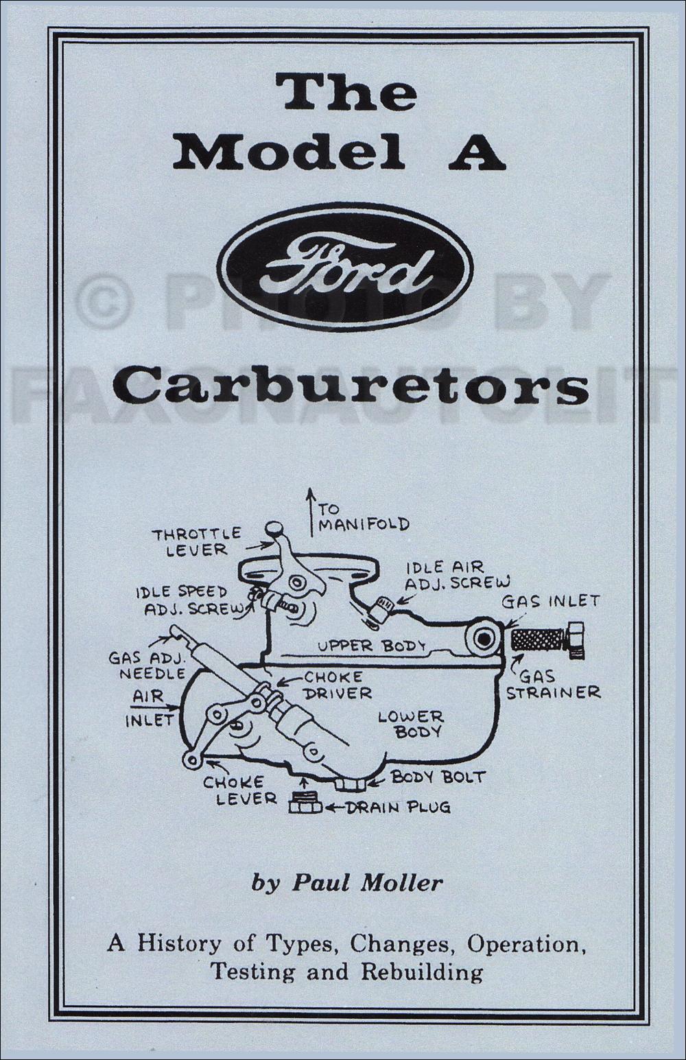 1928-1931 Ford Model A Reprint Carburetor Manual