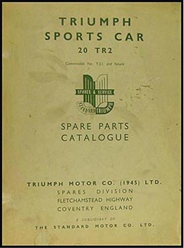 1954 1955 triumph tr2 parts book original rh faxonautoliterature com