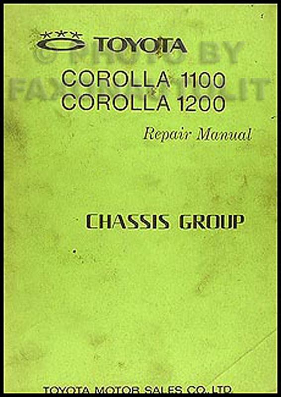 1968-1970 Toyota Corolla Chassis Repair Manual Original No. 98411