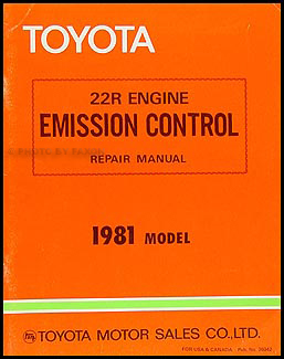 1981 Toyota Corona Emission Control Manual Original No. 36042
