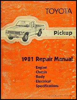 1981 Toyota Pickup Repair Shop Manual Original