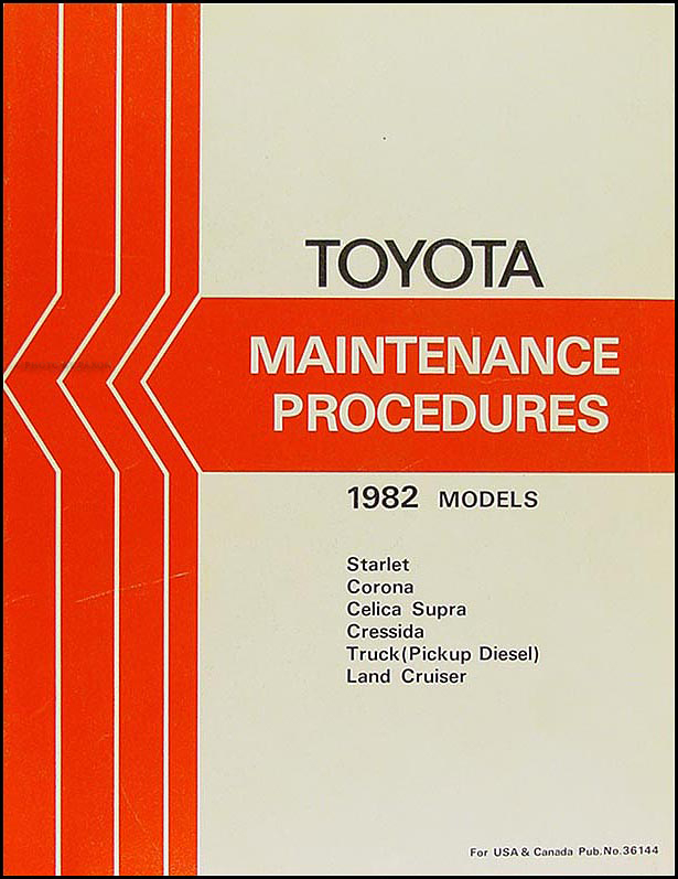 1982 toyota land cruiser fj60 electrical wiring diagram original 4 1982 toyota car truck maintenance procedures manual original