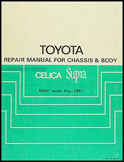 toyota supra repair manual pdf
