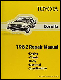 Details about 1982 Toyota Corolla Shop Manual Original Repair Service