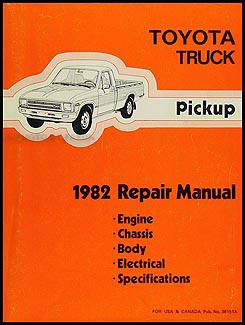 1982 toyota pickup truck repair shop manual rh faxonautoliterature com 1983 toyota pickup owner's manual 1983 toyota pickup owner's manual