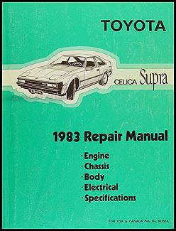 1983 toyota supra repair shop manual original no 38200a rh faxonautoliterature com 1989 Toyota Supra 1984 Toyota Supra