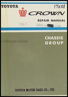 1964 1968 toyota crown chassis manual original rh faxonautoliterature com Toyota Wiring Diagrams toyota crown repair manual pdf
