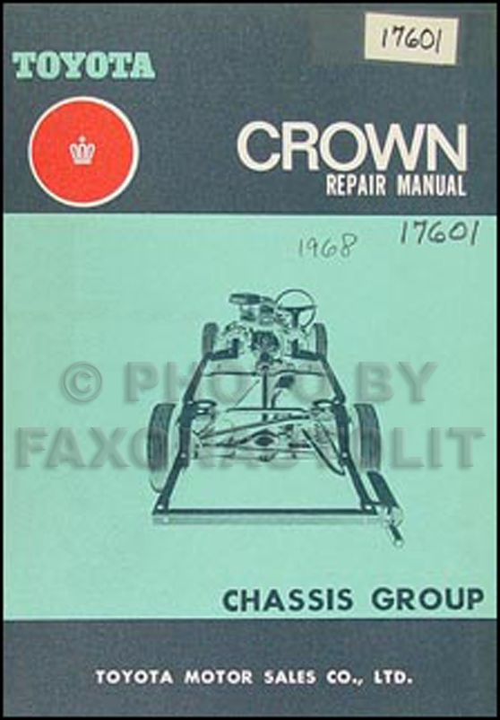 1969 1971 toyota crown chassis repair shop manual original no 98000 rh faxonautoliterature com 1991 Toyota Crown 2001 Toyota Crown