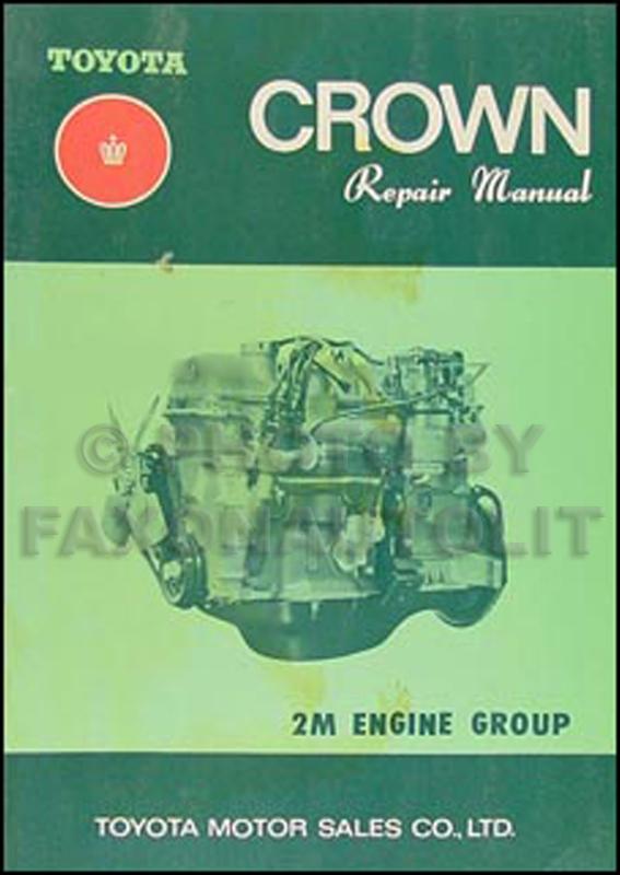 1969 1971 toyota crown engine repair shop manual original no 98004 rh faxonautoliterature com toyota crown repair manual free download Toyota Wiring Diagrams