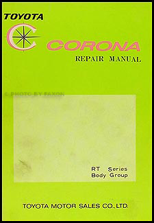 1968 1969 toyota corona body repair shop manual original no 98016 rh faxonautoliterature com toyota corolla repair manual torrent toyota corolla repair manual online