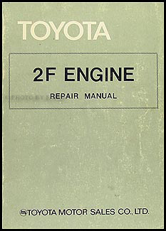 1975-1981 Toyota Land Cruiser Engine Repair Shop Manual Original 98126 (F)