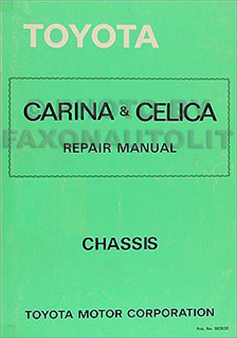 1981 Toyota Celica Supra Electrical Wiring Diagram Original