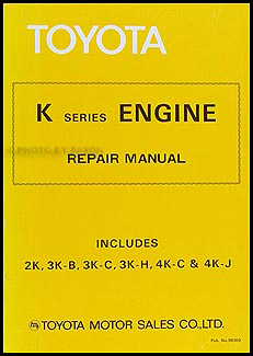 1968-1979 Toyota Corolla 3K-C Engine Repair Shop Manual