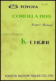 1968 Toyota Corolla 1100 K-Engine Manual Original