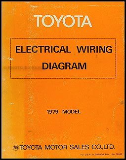 1979 Toyota Electrical Wiring Diagram Original -- Choose your model